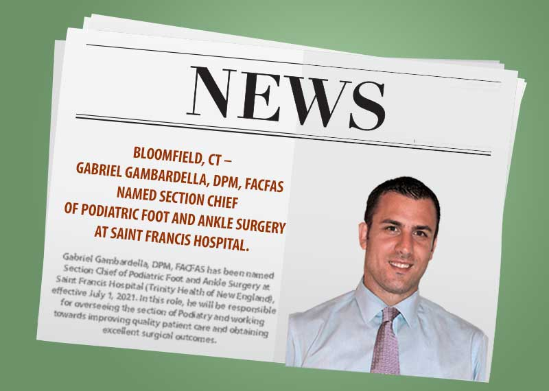 illustration of newpaper with photo of Dr. Gambardelle